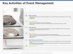 ITIL Event Organization Strategic Plan Key Activities Of Event Management Ppt PowerPoint Presentation Layouts Examples PDF