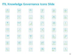 ITIL Knowledge Governance Icons Slide Ppt PowerPoint Presentation Show Example PDF