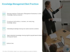 ITIL Knowledge Governance Knowledge Management Best Practices Ppt PowerPoint Presentation File Gallery PDF
