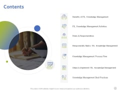 ITIL Knowledge Management Contents Ppt Template PDF