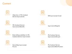 ITIL Operational Evaluation Rigorous Service Enhancement Content Ppt PowerPoint Presentation Ideas Structure PDF
