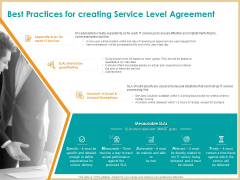 ITIL Service Quality Agreement Best Practices For Creating Service Level Agreement Ppt Pictures Deck PDF