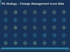 ITIL Strategy Change Management Icons Slide Ppt Layouts Shapes PDF
