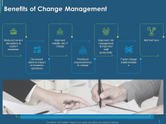 ITIL Transformation Management Strategy Benefits Of Change Management Ppt Layouts Model PDF