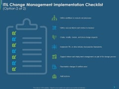 ITIL Transformation Management Strategy ITIL Change Management Implementation Checklist Processes Ppt Layouts Slide Portrait PDF