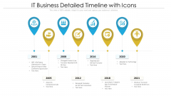 IT Business Detailed Timeline With Icons Ppt PowerPoint Presentation Gallery Shapes PDF