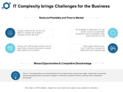 IT Complexity Brings Challenges For The Business Ppt PowerPoint Presentation File Deck