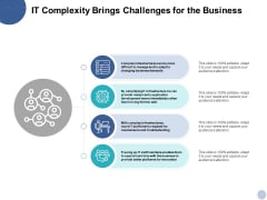 IT Complexity Brings Challenges For The Business Ppt PowerPoint Presentation Layouts Portfolio