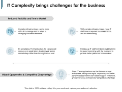 IT Complexity Brings Challenges For The Business Ppt PowerPoint Presentation Summary Clipart