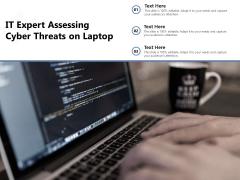 IT Expert Assessing Cyber Threats On Laptop Ppt PowerPoint Presentation Gallery Brochure PDF