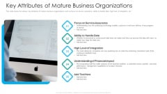 IT Facilities Maturity Framework For Strong Business Financial Position Key Attributes Of Mature Business Organizations Diagrams PDF