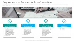 IT Facilities Maturity Framework For Strong Business Financial Position Key Impacts Of Successful Transformation Template PDF