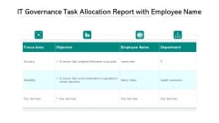 IT Governance Task Allocation Report With Employee Name Ppt PowerPoint Presentation Pictures Example Introduction PDF