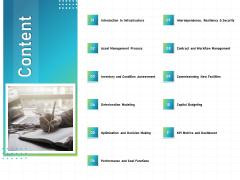 IT Infrastructure Administration Content Ppt File Master Slide PDF