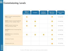 IT Infrastructure Governance Commissioning Levels Ppt Outline Brochure PDF