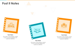 IT Infrastructure Library Consistent Service Improvement Post It Notes Ppt Infographics Icons PDF