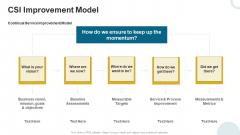 IT Infrastructure Library Continuous Service Enhancement Program CSI Improvement Model Brochure PDF