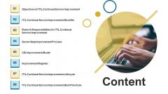 IT Infrastructure Library Continuous Service Enhancement Program Content Diagrams PDF