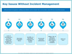 IT Infrastructure Library Incident Handling Procedure Key Issues Without Incident Management Guidelines PDF