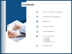 IT Infrastructure Library Service Quality Administration Contents Ppt Infographics Mockup PDF