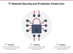 IT Network Security And Protection Vector Icon Ppt PowerPoint Presentation Gallery Slides PDF