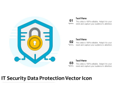 IT Security Data Protection Vector Icon Ppt PowerPoint Presentation Gallery Show PDF