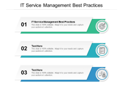 IT Service Management Best Practices Ppt PowerPoint Presentation File Objects Cpb