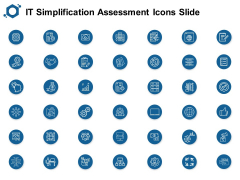 IT Simplification Assessment Icons Slide Ppt PowerPoint Presentation Outline Graphic Images