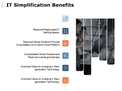 IT Simplification Benefits Ppt PowerPoint Presentation Model Templates