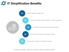 IT Simplification Benefits Ppt PowerPoint Presentation Show Examples