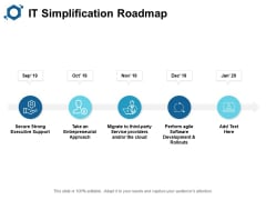 IT Simplification Roadmap Ppt PowerPoint Presentation Layouts Layouts