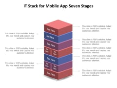 IT Stack For Mobile App Seven Stages Ppt PowerPoint Presentation Outline Background Images PDF