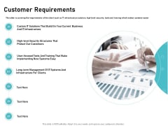 IT Support And Monitoring Services Pricing Customer Requirements Elements PDF