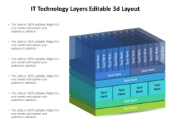 IT Technology Layers Editable 3D Layout Ppt PowerPoint Presentation Summary Sample PDF