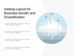 Iceberg Layout For Business Growth And Diversification Ppt Powerpoint Presentation Outline Elements