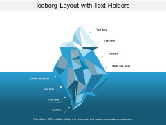 Iceberg Layout With Text Holders Ppt Powerpoint Presentation Icon Grid