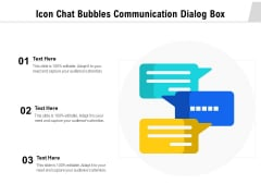 Icon Chat Bubbles Communication Dialog Box Ppt PowerPoint Presentation File Model PDF