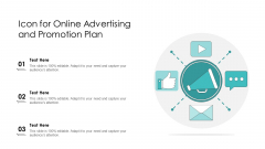 Icon For Online Advertising And Promotion Plan Ppt PowerPoint Presentation Portfolio Introduction PDF