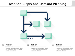 Icon For Supply And Demand Planning Ppt PowerPoint Presentation Infographic Template Example Introduction PDF