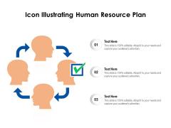 Icon Illustrating Human Resource Plan Ppt PowerPoint Presentation Infographics Smartart PDF