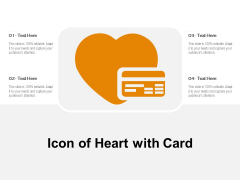 Icon Of Heart With Card Ppt PowerPoint Presentation Outline Background Designs PDF