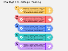 Icon Tags For Strategic Planning Powerpoint Templates