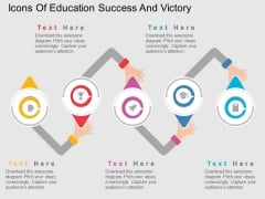 Icons Of Education Success And Victory Powerpoint Templates