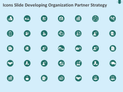 Icons Slide Developing Organization Partner Strategy Ppt Ideas Background Designs PDF