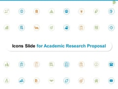 Icons Slide For Academic Research Proposal Ppt PowerPoint Presentation Layouts Graphics Example