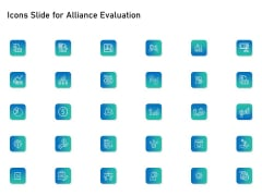 Icons Slide For Alliance Evaluation Ppt Icon Good PDF