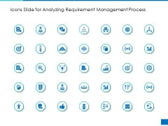 Icons Slide For Analyzing Requirement Management Process Mockup PDF