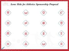 Icons Slide For Athletics Sponsorship Proposal Ppt PowerPoint Presentation Model Samples PDF