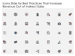 Icons Slide For Best Practices That Increase Revenue Out Of Indirect Sales Inspiration PDF