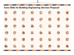 Icons Slide For Building Engineering Services Proposal Topics PDF